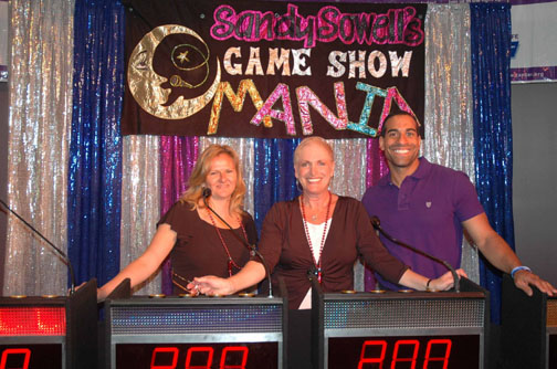 Game Show with Sandy Sowell and contestants