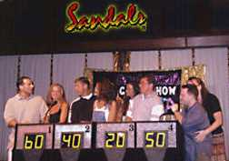 Sandals Negril game show mania