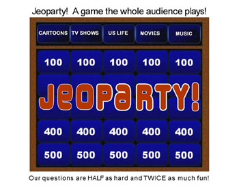 jeoparty interactive trivia-based game show board