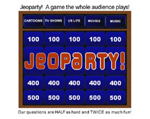 Jeoparty Game board